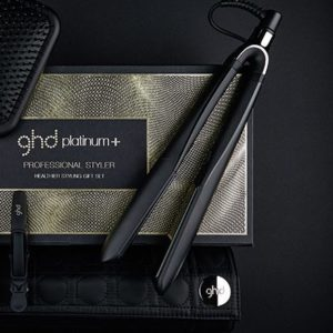 Ghd platinum + gift set black styler